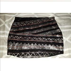 Sequin express skirt